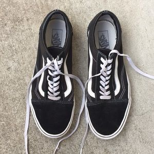 💥Vans Old Skool Suede/Canvas Black/White 11